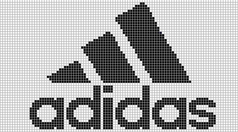 Вязание логотип адидас